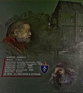 Łukasz III Górka i Halszka - fragment drzewa rodowego Górków z szamotulskiego muzeum