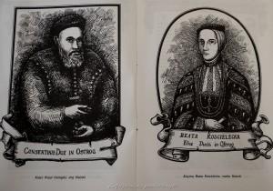 Matka Halszki - Beata i stryj kniaź Wasyl Ostrogski  (opiekunowie majątku)